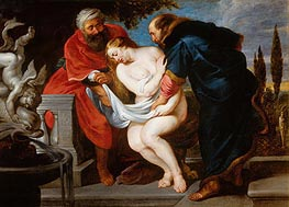 Susanna and the Elders (Susanna Bathing), undated von Rubens | Gemälde-Reproduktion