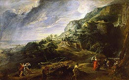 Landscape with Ulysses and Nausicaa | Rubens | Gemälde Reproduktion