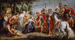 David Meeting Abigail | Rubens | Painting Reproduction