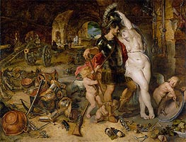 The Return from War (Mars Disarmed by Venus), c.1610/12 von Rubens | Gemälde-Reproduktion