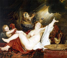 Danae and the Shower of Gold, undated von Rubens | Gemälde-Reproduktion