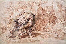 Hercules Strangling the Nemean Lion | Rubens | Painting Reproduction
