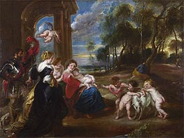 The Holy Family with Saints in a Landscape | Rubens | Gemälde Reproduktion