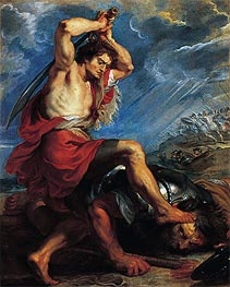David Slaying Goliath | Rubens | Painting Reproduction
