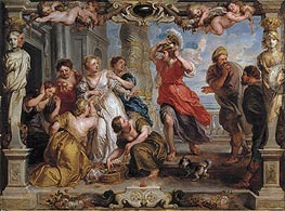 Achilles Discovered by Ulysses Among the Daughters of Lycomedes | Rubens | Painting Reproduction