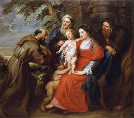 The Holy Family with Saint Francis | Rubens | Gemälde Reproduktion