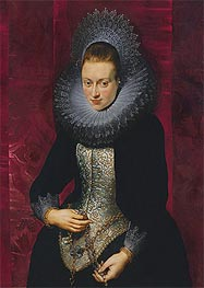 Portrait of a Young Woman with a Rosary | Rubens | Painting Reproduction