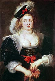 Portrait of Helene Fourment with Gloves | Rubens | Gemälde Reproduktion