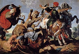 Lion Hunt | Rubens | Painting Reproduction