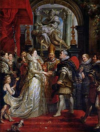 The Proxy Marriage of Marie de Medici and Henri IV 5th October 1600 | Rubens | Gemälde Reproduktion