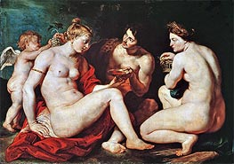 Venus, Cupid, Bacchus and Ceres, c.1613 von Rubens | Gemälde-Reproduktion