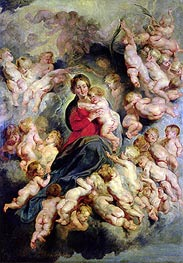 The Virgin and Child Surrounded by the Holy Innocents (The Virgin with Angels) | Rubens | Painting Reproduction