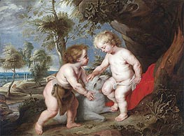 The Christ Child and the Infant John the Baptist | Rubens | Painting Reproduction
