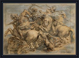 Battle of Anghiari, undated by Rubens | Painting Reproduction