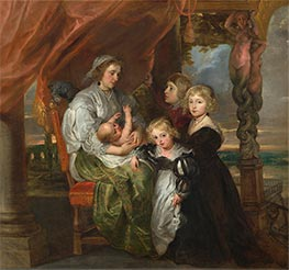Deborah Kip and Her Children, c.1629/30 von Rubens | Gemälde-Reproduktion