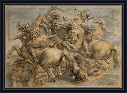 Battle of Anghiari, c.1603 by Rubens | Painting Reproduction
