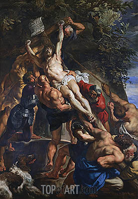 The Elevation of the Cross, c.1610/11 | Rubens | Gemälde Reproduktion