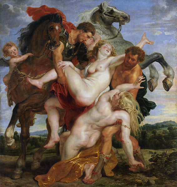 The Rape of the Daughters of Leucippus, 1618 | Rubens | Painting Reproduction