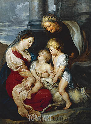 The Holy Family with the Lamb, c.1618 | Rubens | Painting Reproduction