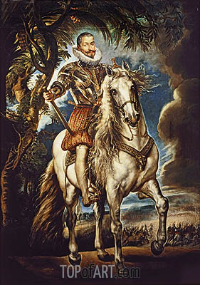 Equestrian Portrait of the Duke of Lerma, 1603 | Rubens | Gemälde Reproduktion