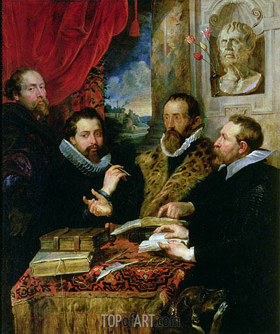 The Four Philosophers (Giusto Lipsius and His Pupils), c.1611/12 | Rubens | Painting Reproduction