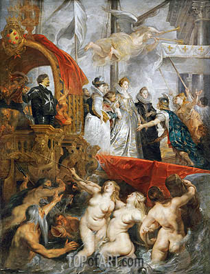 The Arrival of Marie de Medici in Marseilles, 3rd November 1600, c.1621/25 | Rubens | Gemälde Reproduktion