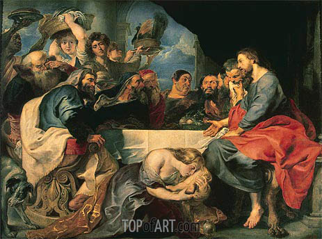 Feast in the House of Simon the Pharisee, c.1618/20 | Rubens | Painting Reproduction