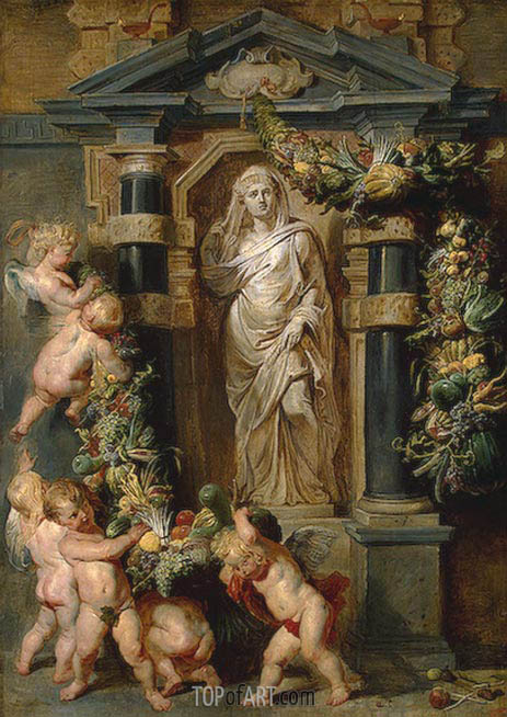 Statue of Ceres, c.1615 | Rubens | Painting Reproduction