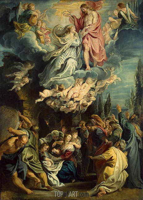 The Coronation of the Virgin, c.1609/11 | Rubens | Painting Reproduction