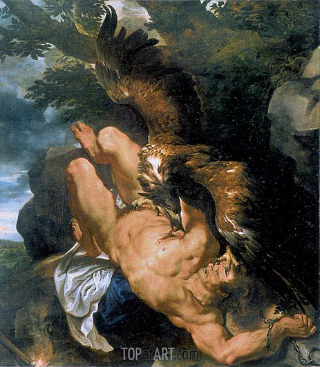 Prometheus Bound (Rubens and Snyders), c.1610/11 | Rubens | Gemälde Reproduktion