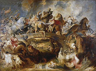 The Battle of the Amazons, 1618 | Rubens | Gemälde Reproduktion