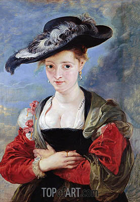 The Straw Hat (Portrait of Susanna Lunden), c.1625 | Rubens | Gemälde Reproduktion