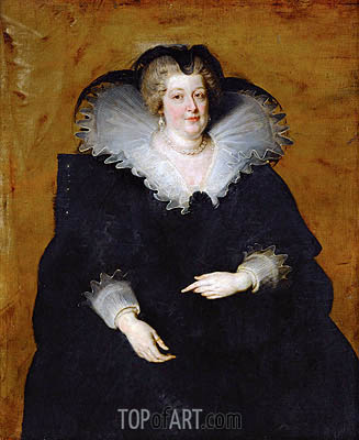 Marie de Medici, Queen of France, c.1622 | Rubens | Gemälde Reproduktion