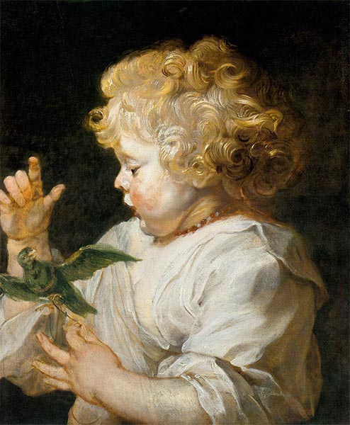 Boy with Bird, c.1616 | Rubens | Painting Reproduction
