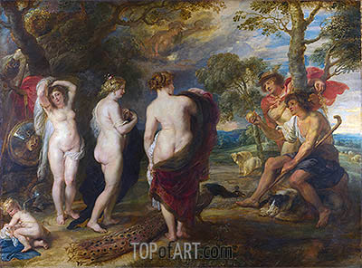The Judgement of Paris, c.1632/35 | Rubens | Gemälde Reproduktion