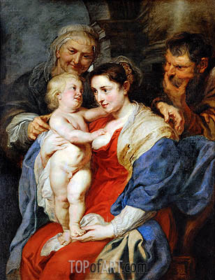 The Holy Family with Saint Anne, c.1628 | Rubens | Painting Reproduction