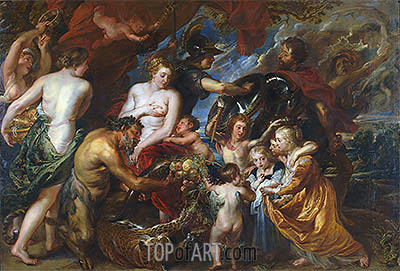 Minerva Protects Pax from Mars (Peace and War), c.1629/30 | Rubens | Gemälde Reproduktion