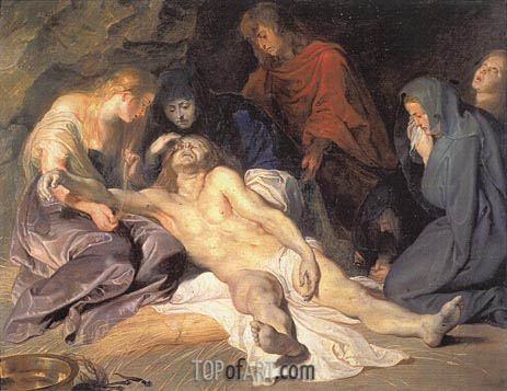 The Lamentation, 1614 | Rubens | Gemälde Reproduktion