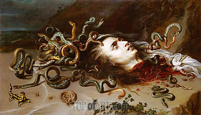 The Head of Medusa, c.1617/18 | Rubens | Painting Reproduction