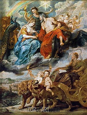 The Meeting of Marie de Medici and Henri at Lyon, c.1622/25 | Rubens | Painting Reproduction