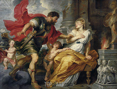 Mars and Rhea Silvia, c.1616/17 | Rubens | Painting Reproduction