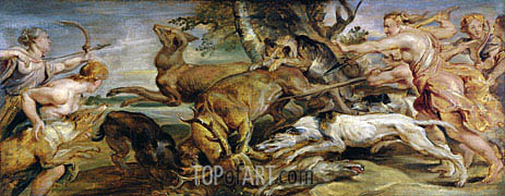 Diana's Hunt, 1628 | Rubens | Painting Reproduction