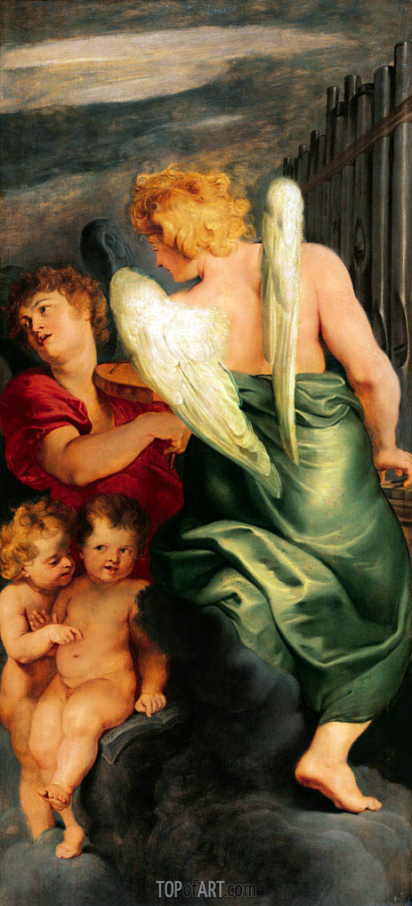Four Music Making Angels, c.1615/20 | Rubens | Gemälde Reproduktion