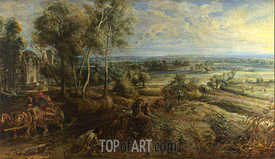 A View of Het Steen in the Early Morning, 1636 | Rubens | Painting Reproduction