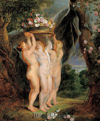 The Three Graces, Undated | Rubens | Gemälde Reproduktion