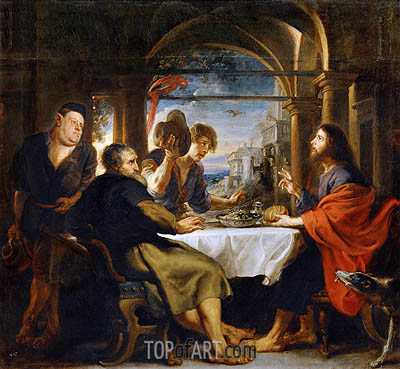 The Dinner at Emmaus, 1638 | Rubens | Gemälde Reproduktion
