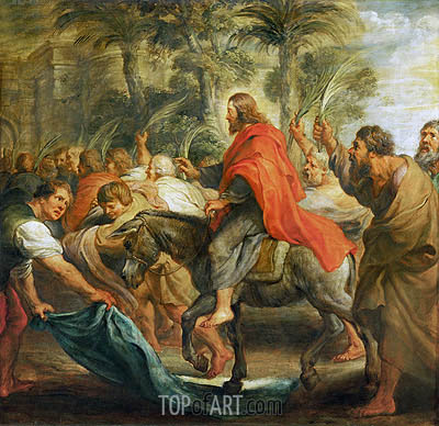 Christ's Entry into Jerusalem, 1632 | Rubens | Painting Reproduction