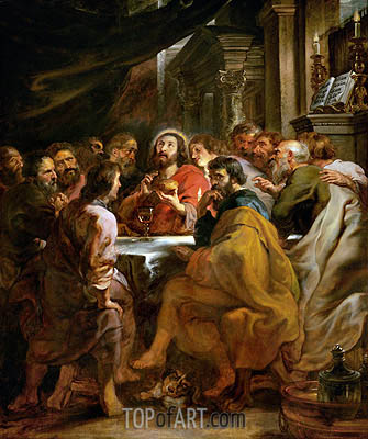 Last Supper, c.1630/32 | Rubens | Gemälde Reproduktion