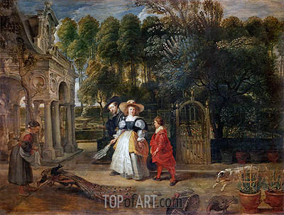Rubens and His Wife Helene Fourment in the Garden, undated | Rubens | Gemälde Reproduktion