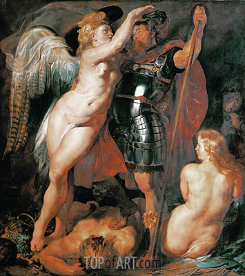 The Coronation of the Hero of Virtue, 1612 | Rubens | Gemälde Reproduktion